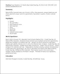 Resume Sample For Doctors by Professional Medical Office Specialist Templates To Showcase Your