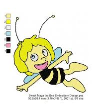 maya bee embroidery design
