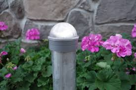 solar lights for chain link fence solar lights for round chain link fence posts silver set of 2