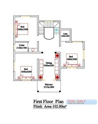 sqft kerala style 3 bedroom house plan from smart home gf plan house