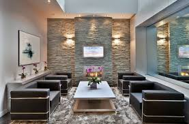 Stacked Stone Veneer Interior Decor U0026 Tips Wall Sconces And Stone Veneer Fireplace With Wall