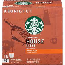 starbucks house blend medium ground coffee k cups 16 ct box