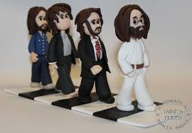 beatles cake toppers beatles road handmade in polymer clay and approxim flickr