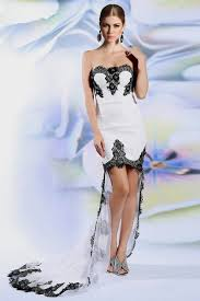 white lace prom dress chiffon lace high low black and white mermaid prom dresses