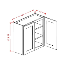 kitchen glass shaker cabinets shaker white 24x42 glass door wall cabinet