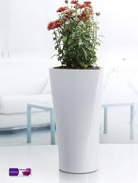 Indoor Plant Vases White Triangle Flower Pot Plastic Flower Pot Houseplants Modern