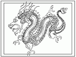 download chinese coloring pages dragon printable print