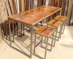 reclaimed wood pub table sets the butchers choice reclaimed wood bar table pub butcher within