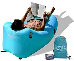inflatable air lounger sofa bed with special headrest design