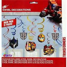 transformers party decorations transformers party decorations swirl boys birthday hanging supplies