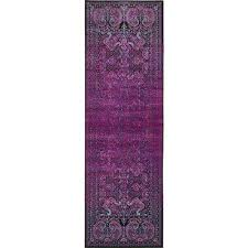 Purple Runner Rugs Purple Runner 3 And Larger Area Rugs Rugs The Home Depot
