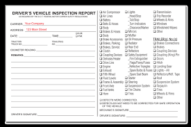 daily inspection report template vehicle inspection report images