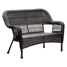 Wicker Outdoor Patio Furniture - dark brown wicker outdoor patio bench settee at home at home