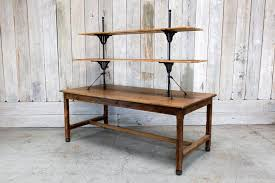 wood display table w shelving bd antiques