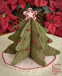 christmas tree centerpiece crochet by darleen hopkins