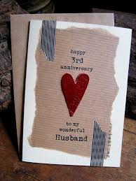 3rd wedding anniversary gifts for 3rd wedding anniversary card leather traditional gift handmade
