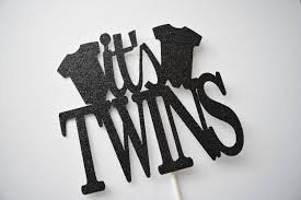 baby shower cake topper twins cake topper it u0027s twins