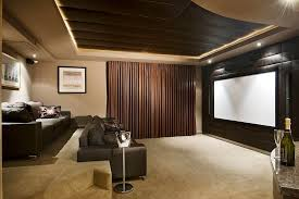 home theater curtains diy home theater transitional with curtain