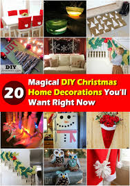 christmas decorated home 20 magical diy christmas home decorations you ll want right now