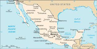 map of mexico and california geography for mexico