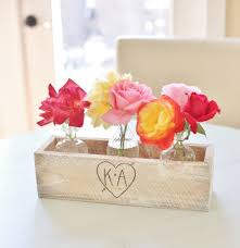 Personalized Flower Vases Personalized Planter Box Rustic Chic Wedding Centerpieces Vases