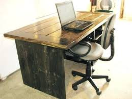 Wood Desk Ideas Rustic Wood Desk Bethebridge Co