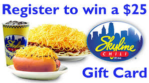 chili gift card eaglecountryonline skyline chili gift card giveaway