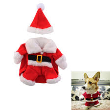 pet christmas christmas pet dog cat puppy clothes santa claus costume suit