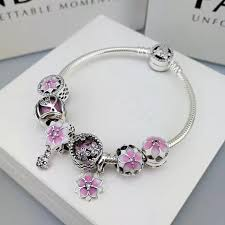 pandora silver bracelet with charms images Pandora bracelet 925 sterling silver bangle with charms JPG