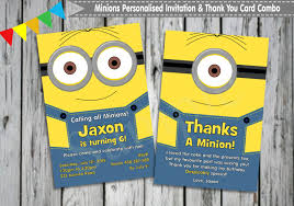 printable minion birthday invitations free printable invitation