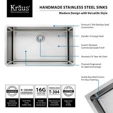 How To Measure Kitchen Sink by Kraus Khu100 32 Kitchen Sink Build Com