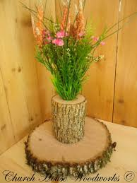 rustic wedding centerpieces tree branch flower holders wooden vases