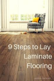 Laminate Floor Steps How To Install Laminate Flooring On Wood Subfloor Dengarden