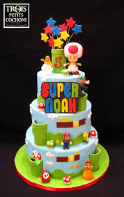 mario birthday cake mario bros made by aux trois petits cochons par