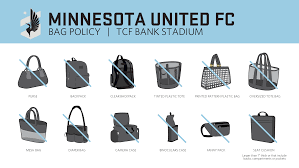 United Luggage Restrictions by Clear Bag Policy Minnesota United Fc
