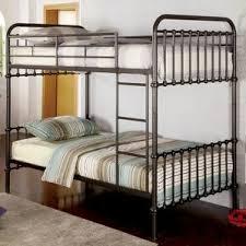 Metal Bunk  Loft Beds Kids Bedroom Furniture Wayfair - Steel bunk beds