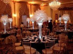 wedding centerpiece rentals nj rent ostrich feather centerpieces includes 30 reversible glass