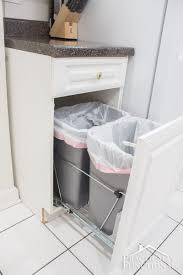 pull out trash can for 12 inch cabinet diy pull out trash cans in under an hour empty easy and kitchens