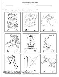 letter sound worksheets kindergarten u0026 letter c beginning sound