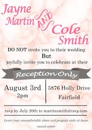 reception only invitations elopement party invitations reception only invitations