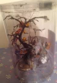 decorated halloween trees lemax spooky town decorated halloween tree lighted 2003 10