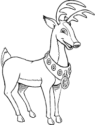 reindeer christmas coloring kids christmas coloring pages