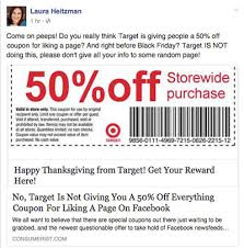 target coupon sends into a frenzy