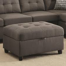 stonenesse grey fabric ottoman steal a sofa furniture outlet los