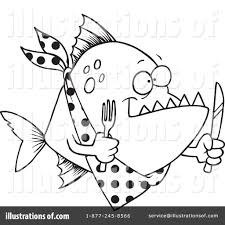 piranha clipart 1046363 illustration by toonaday