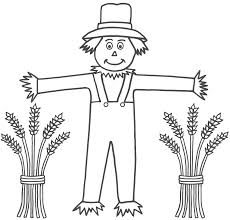 free printable scarecrow coloring pages kids
