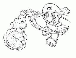 super mario fire flower coloring pages coloring home