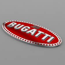 bugatti badge bugatti logo high 3d model cgtrader