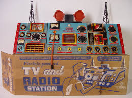 Howdy Doody Rocking Chair Tin Electric Powered Tv And Radio Station By Marx Excellent From