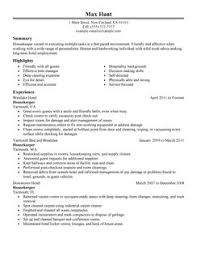 Classic Resume Examples Housekeepers Resume Housekeeping Cover Letter Sample The Best